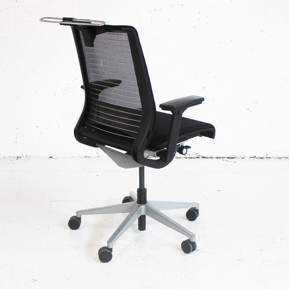 steelcase think office chair. Steelcase Think Operator Chair With Coat Hanger | Mesh Back Office Black Computer A